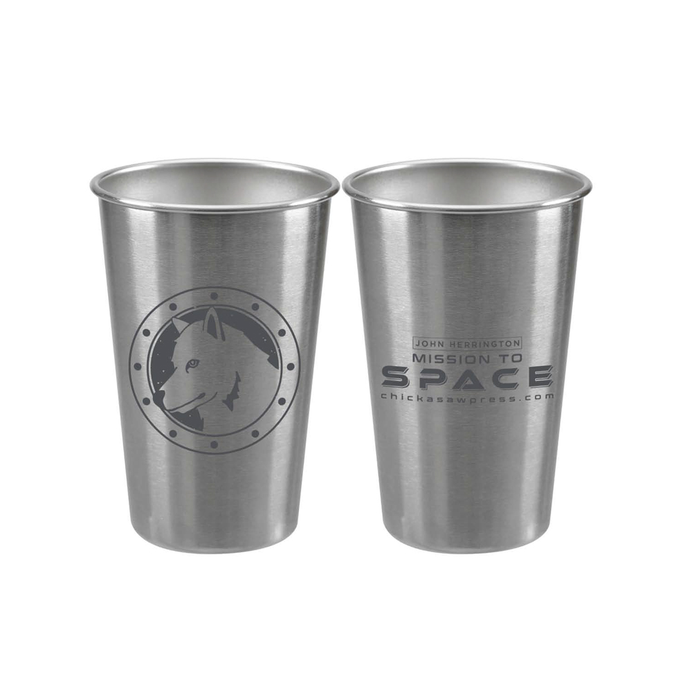 White Dog Press Mission to Space Stainless Steel Tumbler (Silver)