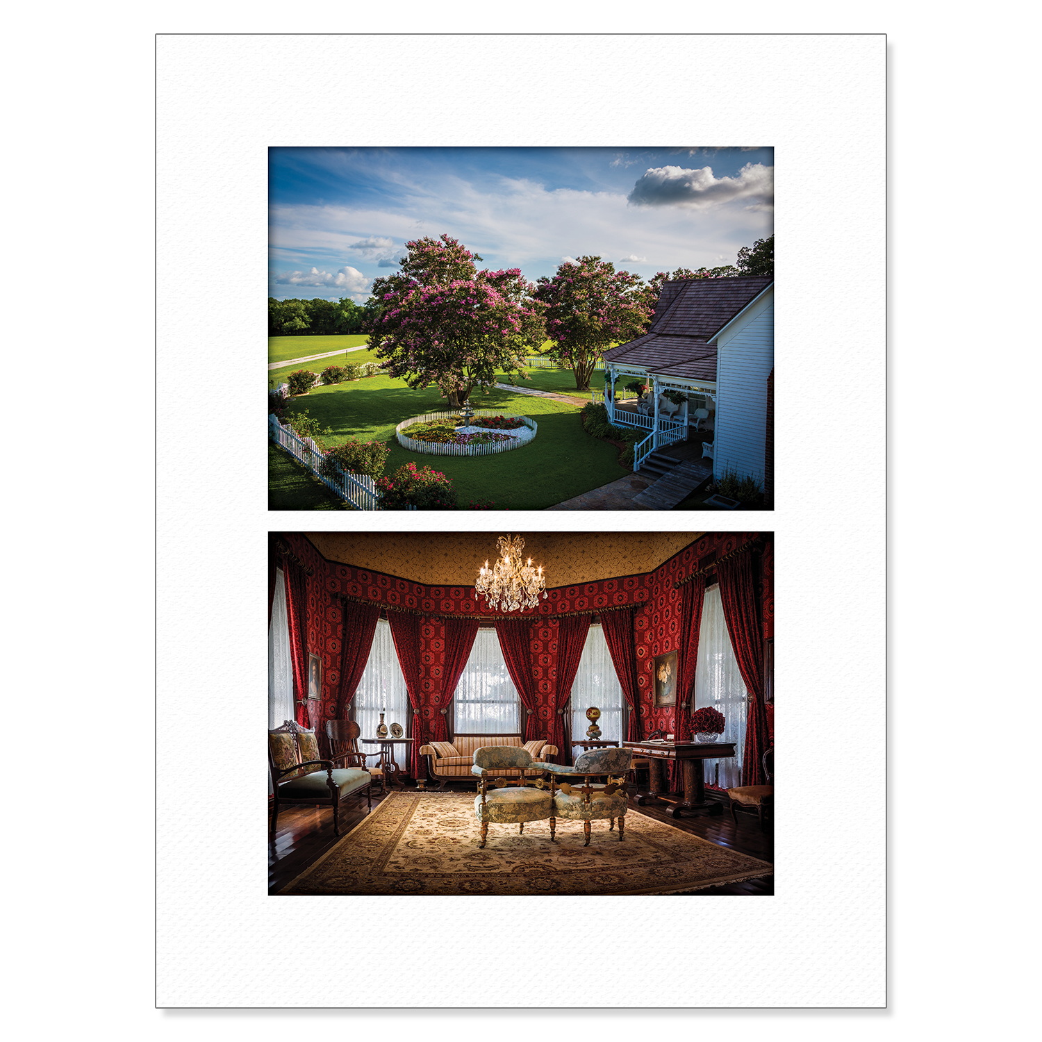 Chokma'si Signed and Numbered Print: Chickasaw White House